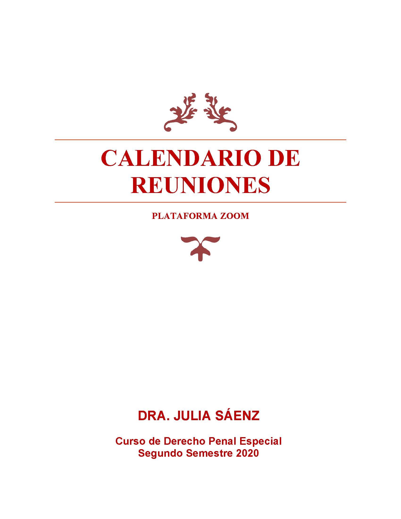 Penal Esp REUNIONES ZOOM IIS