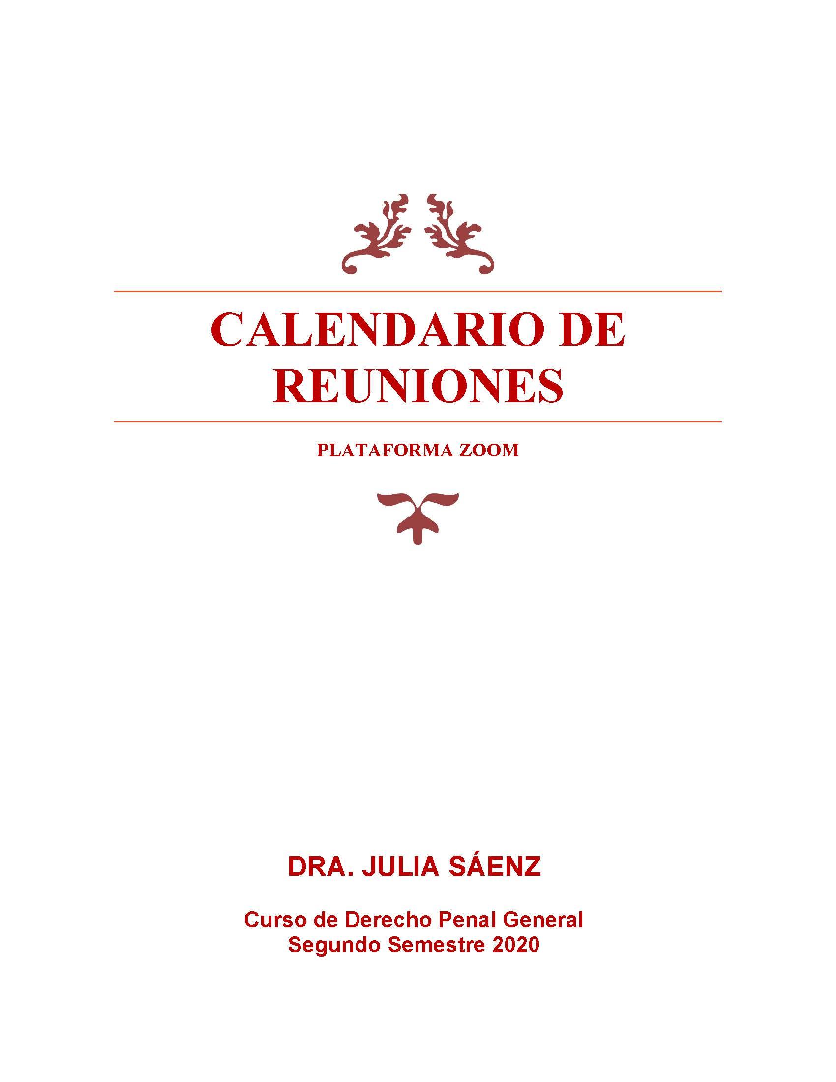 Penal Gral REUNIONES ZOOM IIS